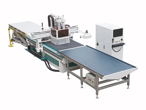 Automatic nesting CNC router machine with automatic loading and unloading system