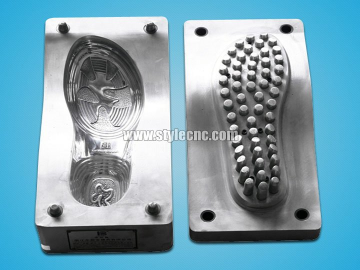 CNC moulding machine samples for shoe cnc moulding