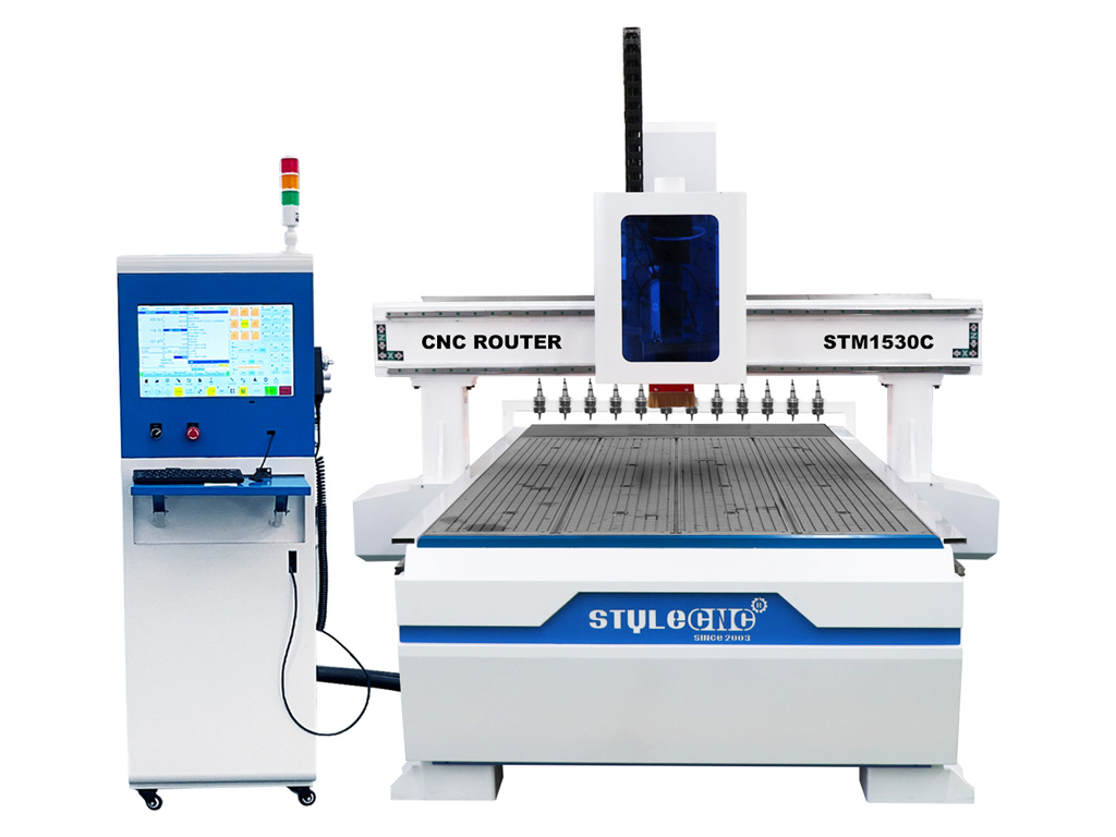 5x10 CNC Router Machine with Linear Automatic Tool Changer