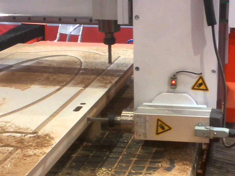 Wooden door cnc router noise solutions