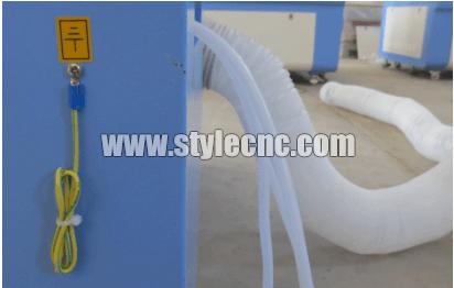 CO2 laser machine ground installation