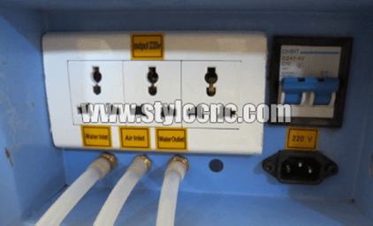 CO2 laser machine power with 220v