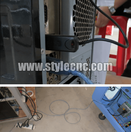 CO2 laser machine cable connect
