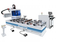 Single arm PTP working center for CNC routering, drilling, milling