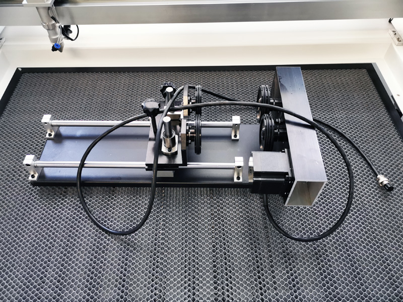 Laser engraver rotary device for cylinder engraving