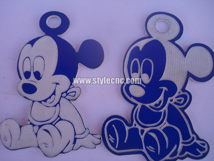 Double color board laser engraving and cutting projects