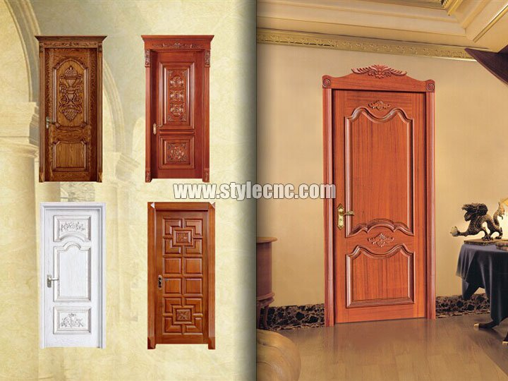 Wood door projects by CNC wood carving machine