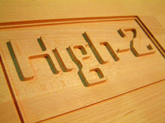Advertising CNC router applications and samples