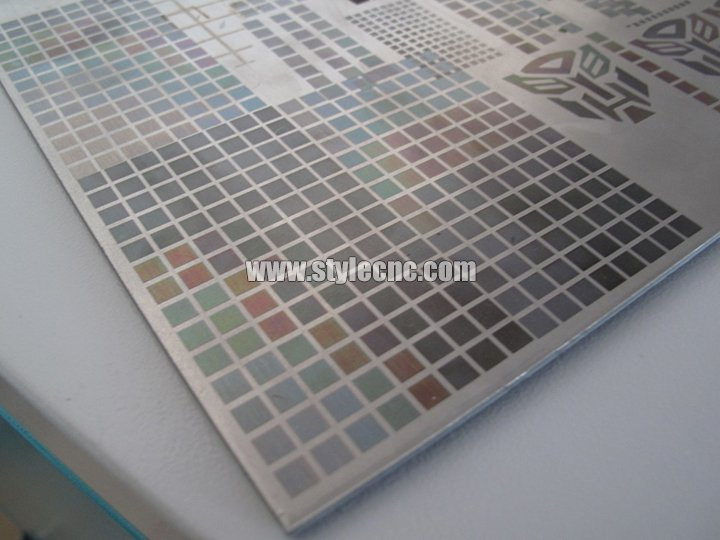 how the fiber laser marking machine mark the different colors in stainless steel