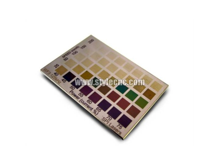 stainless steel color laser marking machine