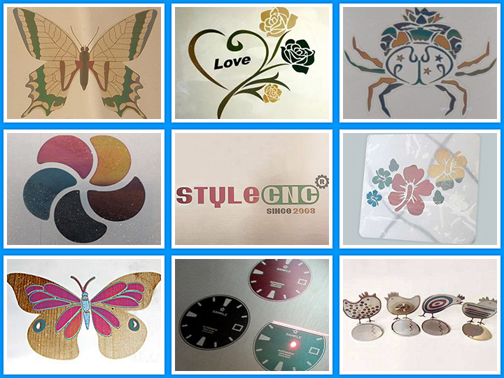 fiber laser marking machine mark colors on stainless steel