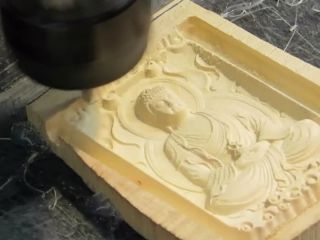 6090 CNC router for wooden buddha relief engraving