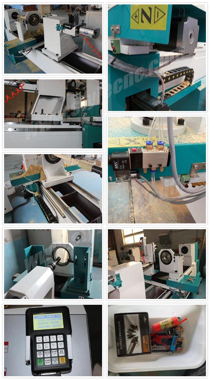 CNC wood turning lathe machine features