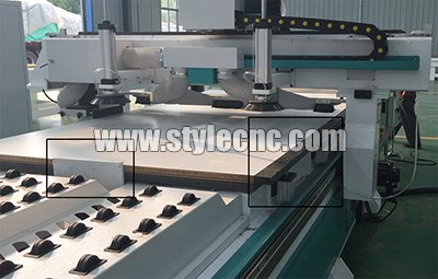 Material Alignment device of Customized furniture CNC router