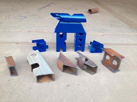 Metal square and round tube cutting samples by plasma cutter machine