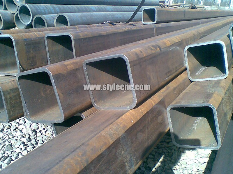 Metal square tube cutting samples by plasma cutter machine