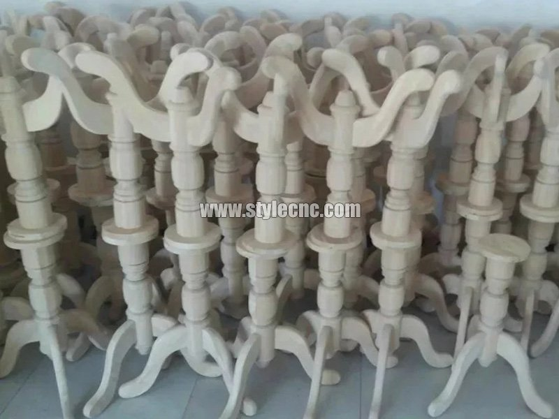 Wooden columns sample 21 making by CNC wood turning lathe machine