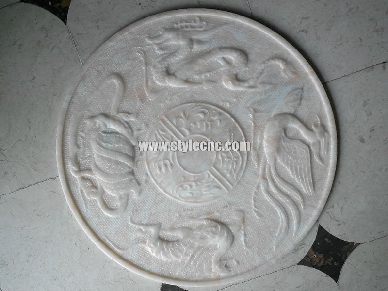 CNC marble carving sample 02 by stone engraving machine