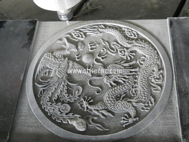 CNC stone engraving machine sample