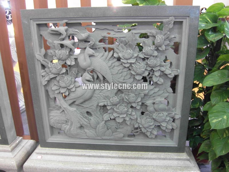 CNC marble carving sample 03 by stone engraving machine