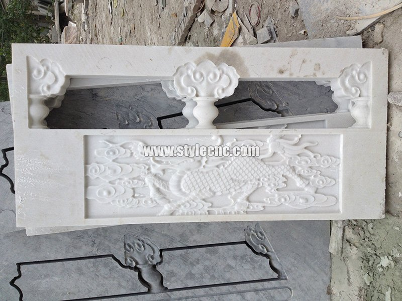 CNC marble carving sample 05 by stone engraving machine