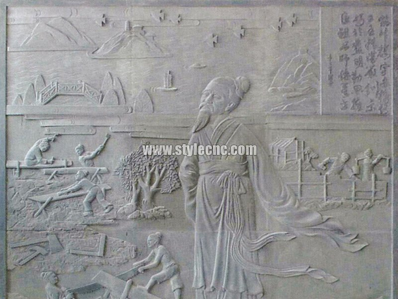 CNC marble carving sample 07 by stone engraving machine