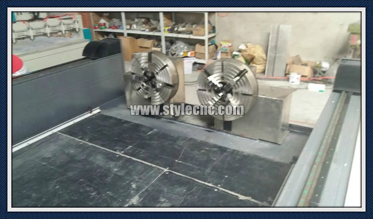 Two separate spindles of Stone CNC router 2030