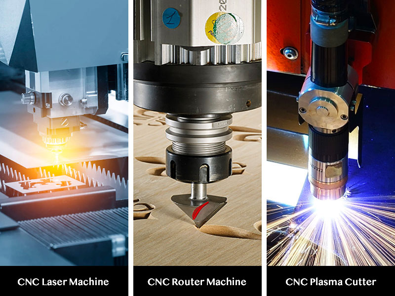 The difference among CNC router,CNC laser and CNC plasma cutter