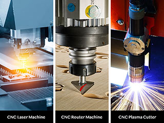 What is the difference among CNC router,CNC laser and CNC plasma cutter