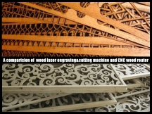 A Comparison of Laser Wood Engraving Cutting Machine and CNC Wood Router
