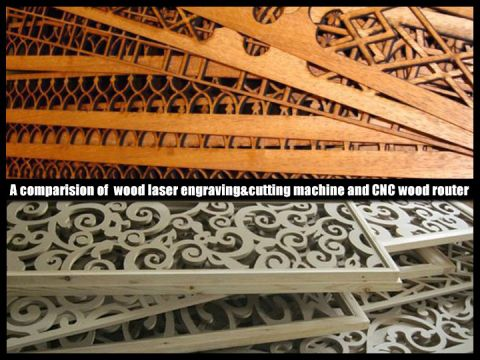A comparision of wood laser engraving cutting machine and CNC wood router