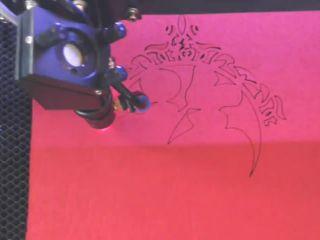Felt laser cutting processing by STYLECNC Laser engraving machine