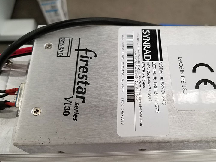 America Synrad laser tube 30W