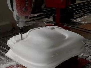 3D foam cutting for car mold making by 5 axis CNC router
