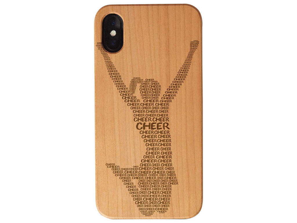 wood laser engraving on wood Iphone case