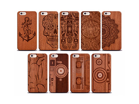 Wood laser engraving machine applied in Iphone case
