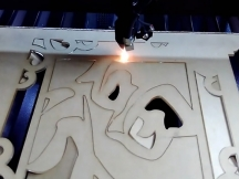 Acrylic laser cutting as crafts by laser engraving and cutting machine