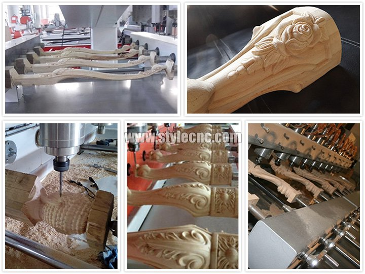Applications of CNC Router with 4 axis rotary and 8 heads