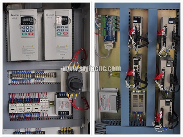 Control box of CNC Router with 4 axis rotary and 8 heads