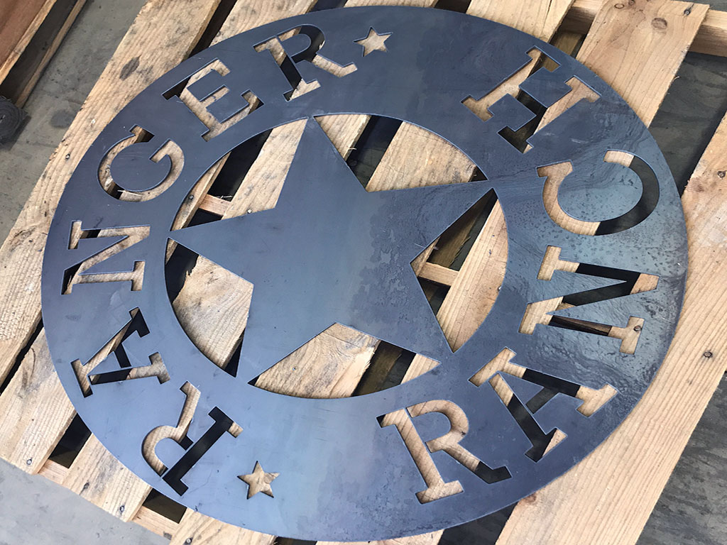 CNC Plasma Cutting Metal Signs