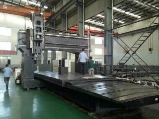 <b>High-precision Gantry 5 faces CNC machining center is serving for our CNC router parts</b>