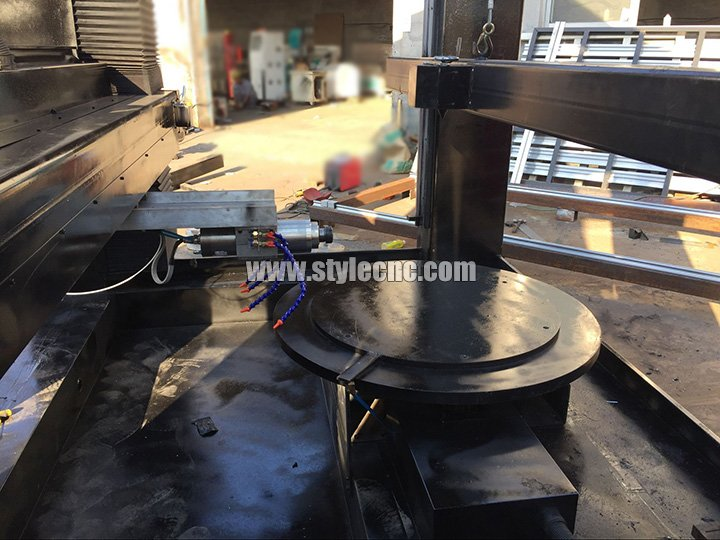 4 axis cnc stone carving machine rotary table