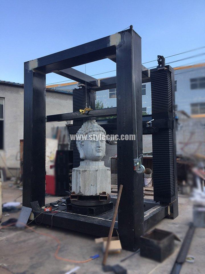 vertical 3d stone caving machine