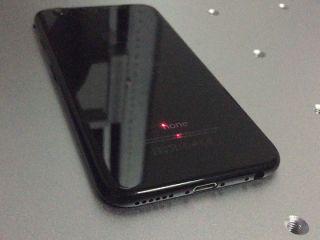 Jet Black iPhone 7 laser engraving machine with MOPA fiber laser souce