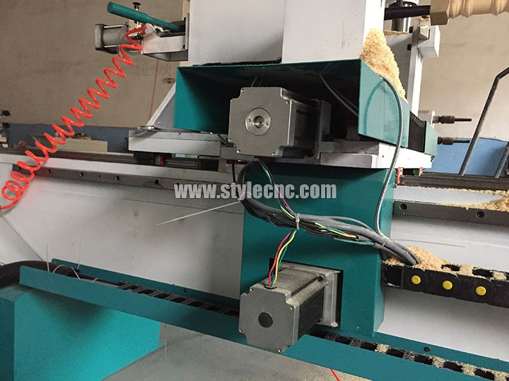 STYLECNC® CNC wood turning lathe machine for Stair handrail motor