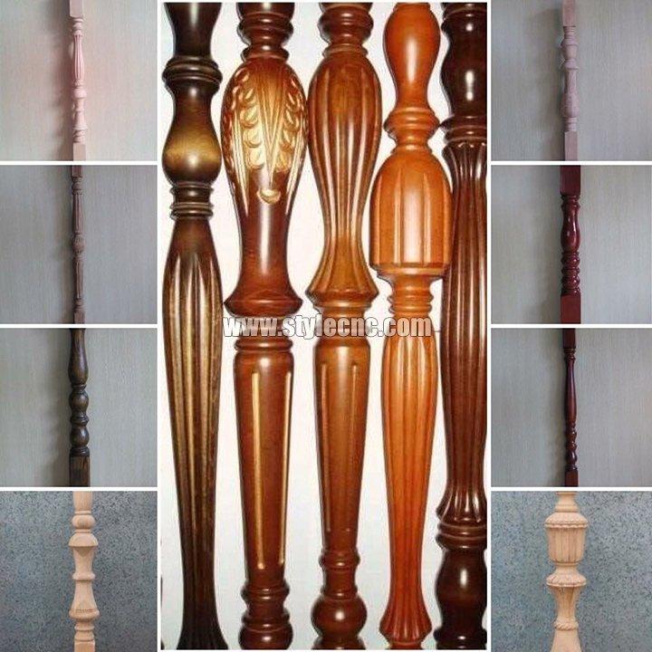 STYLECNC® CNC wood turning lathe machine for Stair handrail sample1