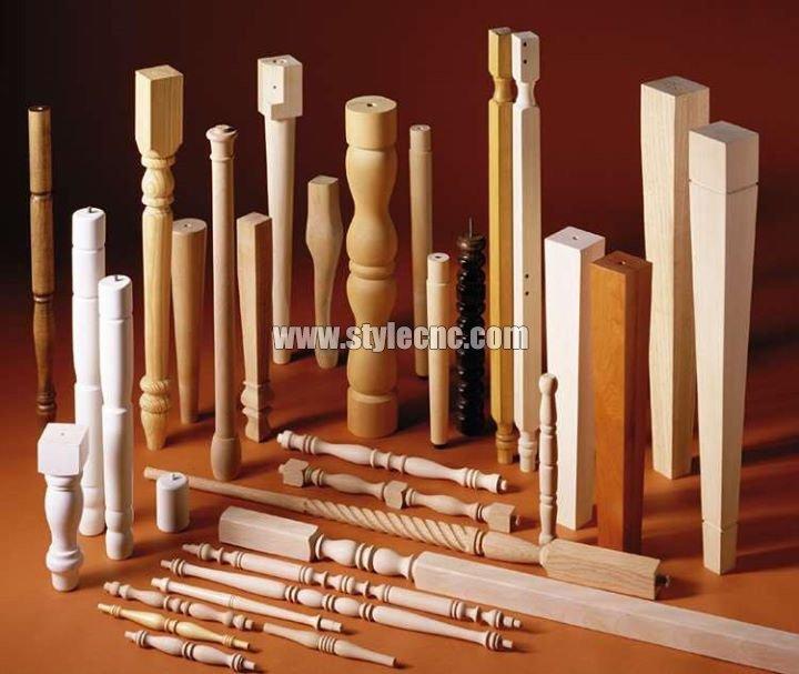 STYLECNC® CNC wood turning lathe machine for Stair handrail sample2