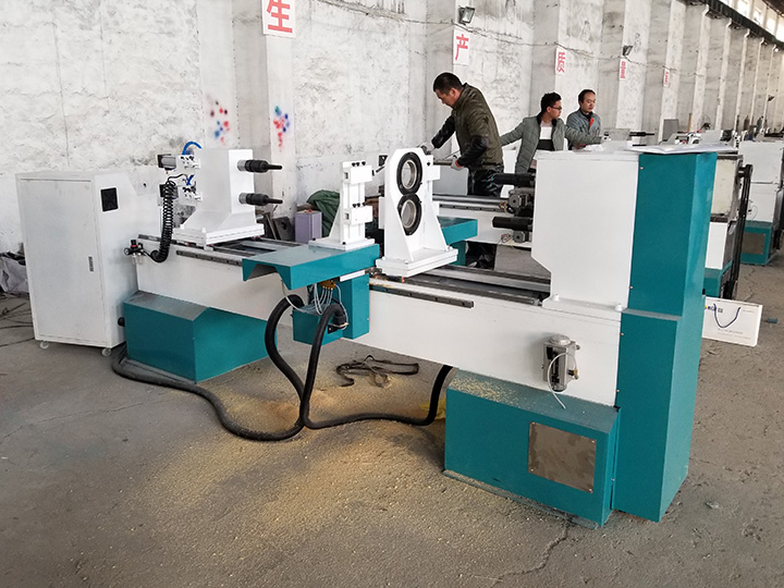 The First Picture of STYLECNC® CNC Wood Turning Lathe Machine for Stair handrail