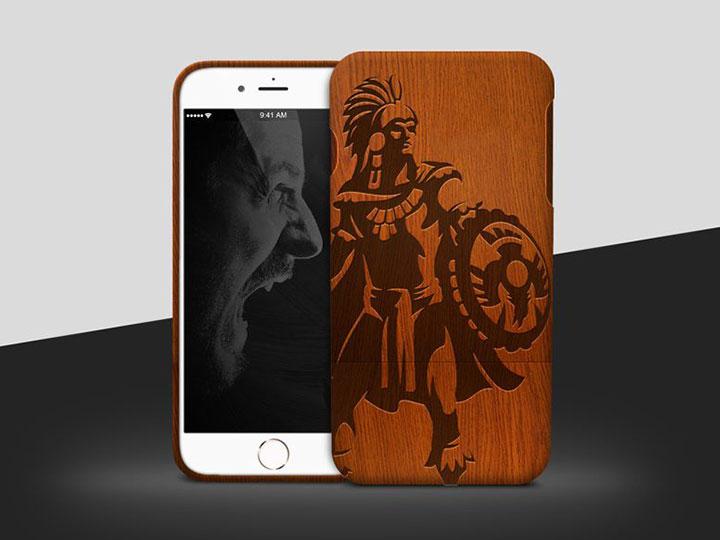 Wood iphone case laser engraving