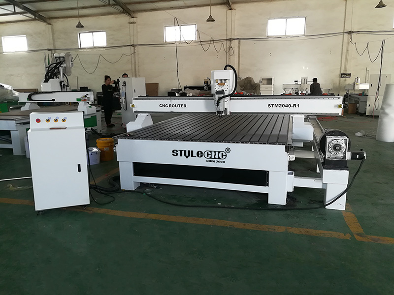 CNC router for Aluminum in factory
